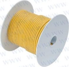 100' Tinned Copper Wire 8 AWG (8mm²) Ye