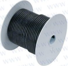 8' Tinned Copper Wire 10 AWG (5mm²) Bla