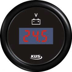 Kus digital voltmeter 9-32v, sort, 12/24v