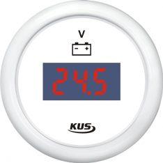 Kus digital voltmeter 9-32v, hvid, 12/24v