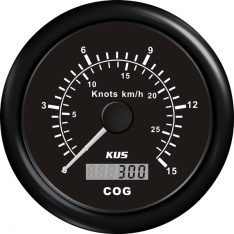 Kus gps speed 0-15knob, sort 12/24v ø85
