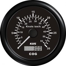 Kus gps speed 0-60knob, sort 12/24v ø85