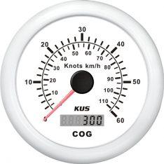 Kus gps speed 0-60knob, hvid 12/24v ø85